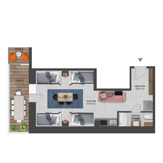 דירה 8א - לחץ להגדלה