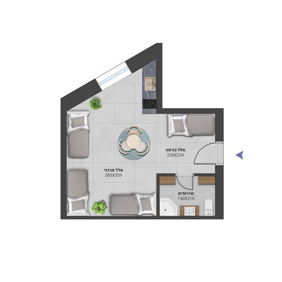דירה 5 - לחץ להגדלה