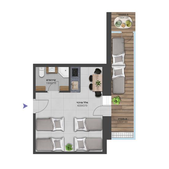 דירה 1 - לחץ להגדלה
