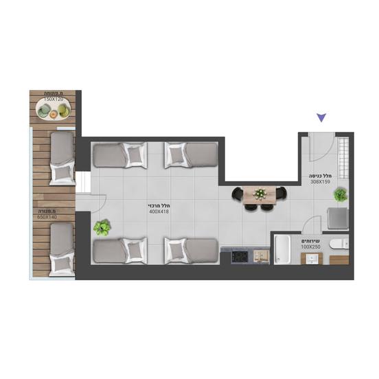 דירה 8 - לחץ להגדלה