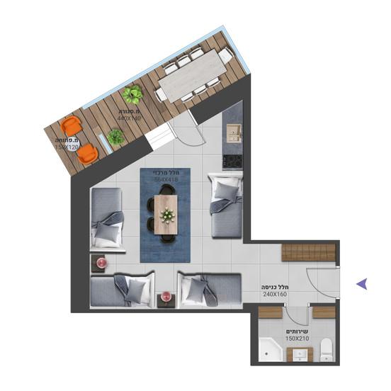 דירה 9א - לחץ להגדלה