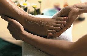 Foot soak exfoliation
