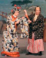 "Caitlin Burke as Katisha and Stephen Quint as Ko-Ko in ""The Mikado"""