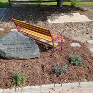 Stone, bench and Memory bricks