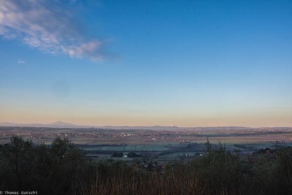 Valdichiana Sonnenaufgang Februar