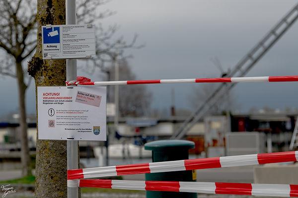 Seeparkplatz hard gesperrt