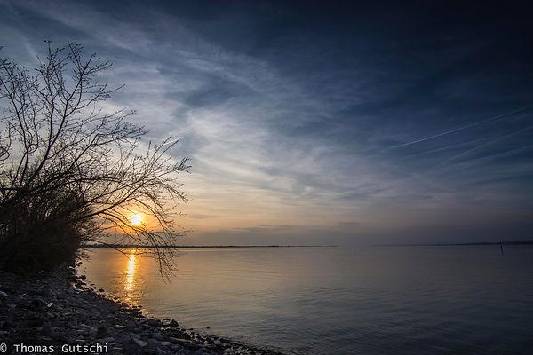 Sonnenuntergang am Industrehafen