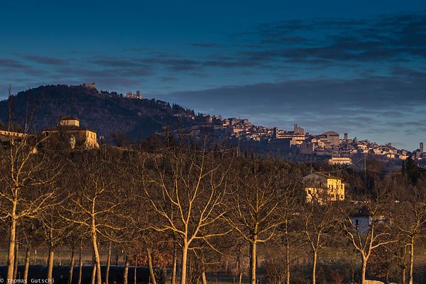 Cortona in der Abendsonne