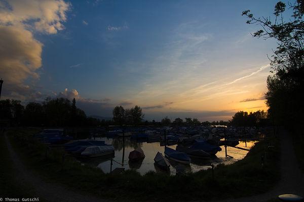 Sonnenuntergang Auhafen