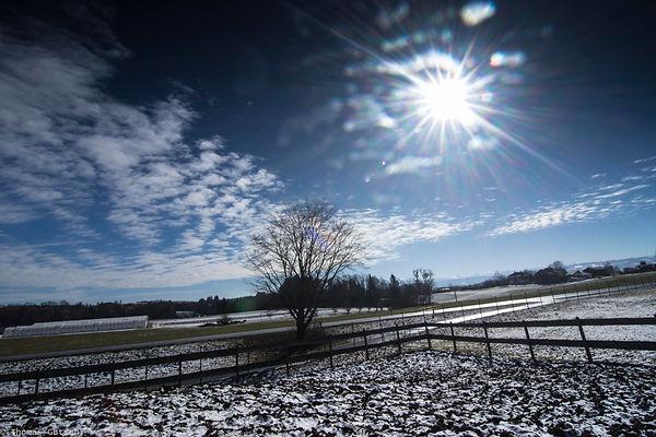 Der Frühling kommt Wolken Sonne blauer Himmel