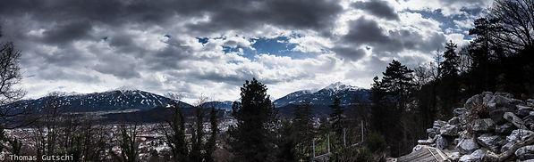 Blück über Innsbruck vom Alpenzoo