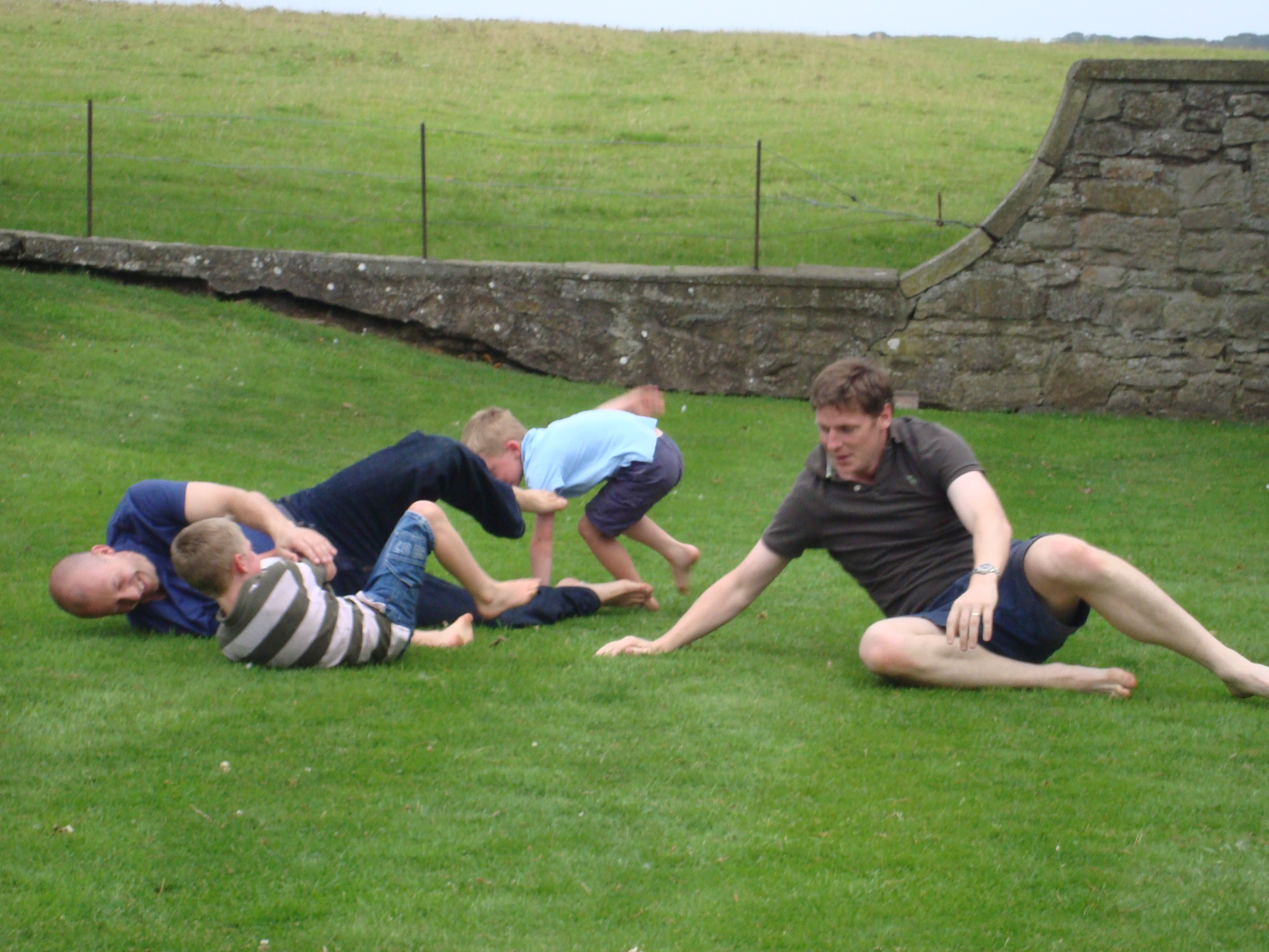 Rugby on the Front Lawn