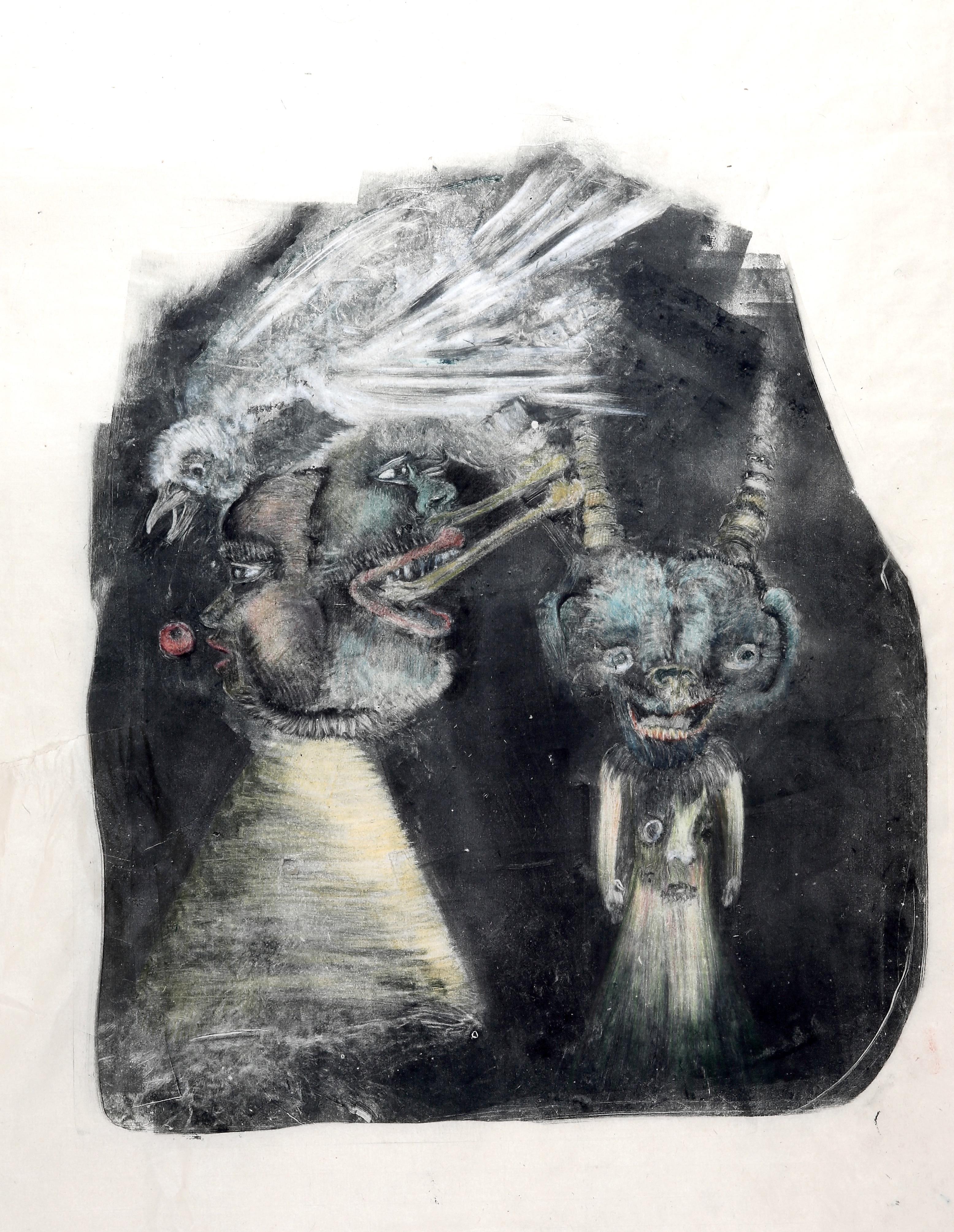 « Cerise » 2017,50 x 60 cm, Monotype