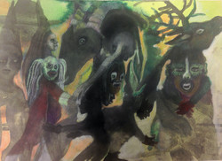 Insomnia, 2016, 40 x 50 cm aquarelle