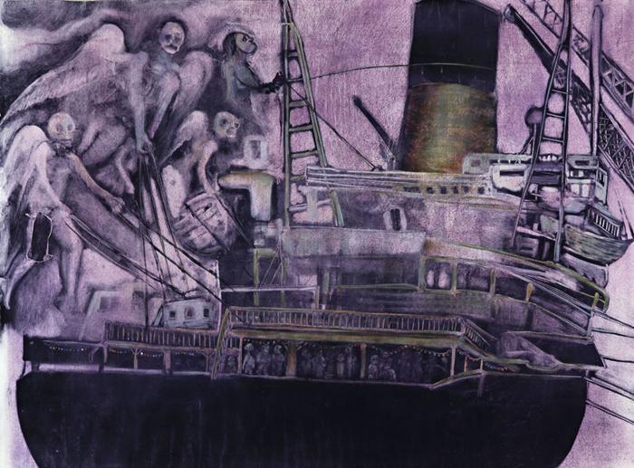 « We will all go » 2007, 60x80cm, mixed media
