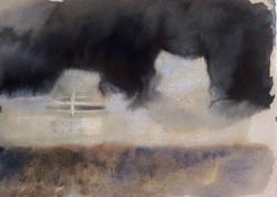 "« Dreamship2 » =« Walkways"", 2012, 30 x 38 cm, inks"