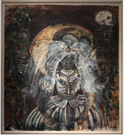 Wedding Day, 2008, Oil monotype on paper. 137 x 124.5cm