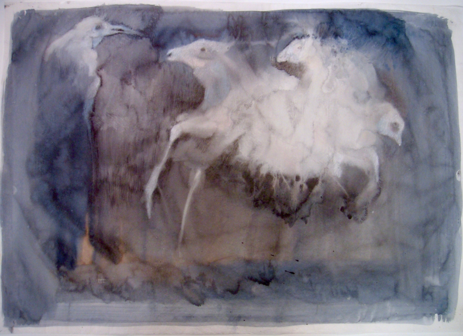 « Crow-horse » 1999, 45x65cm, watercolor