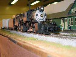 Erie RR Camelback steam engine