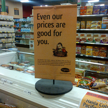 Cutom sign package for retailer
