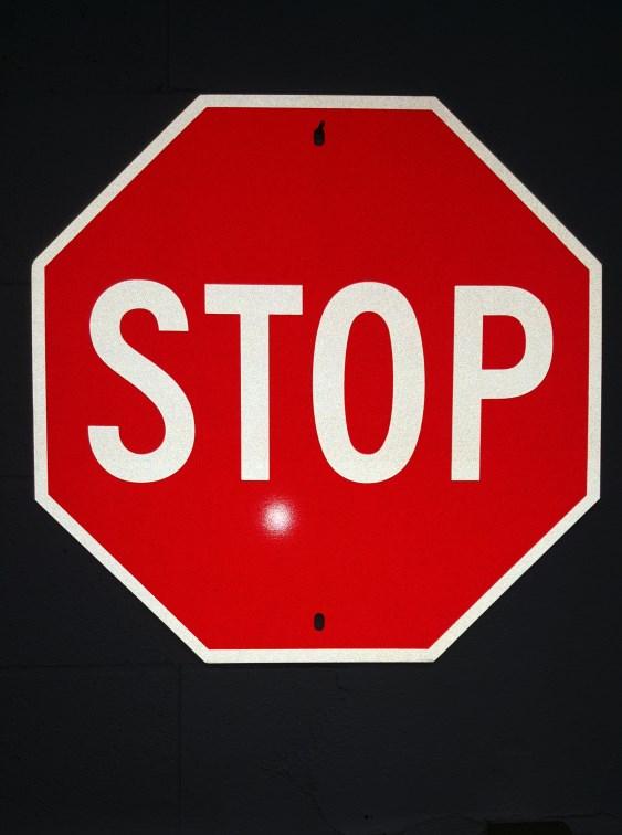 "24"" STOP RA-1 reflective"
