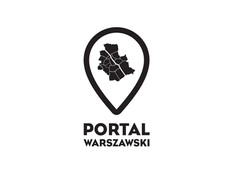 Logo and brand identity for warsaw based portal about Warsaw city