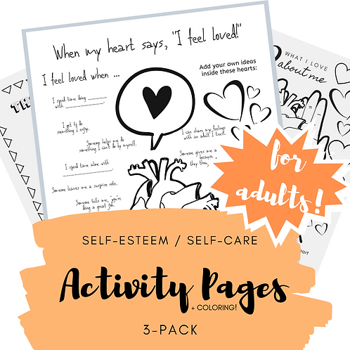Printable Adult Self-Care Activity Pages
