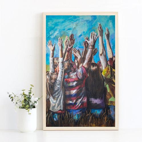 Gift for pastor, prayer journal, harvest art, pastor gift men, missionary gifts, spiritual art, wheat field, great commission