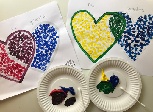 Art activity for a grieving child