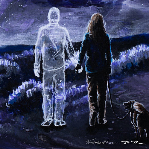 Sympathy gift, loss of father, loss of husband, Memorial art, Bereavement gift, starry night,