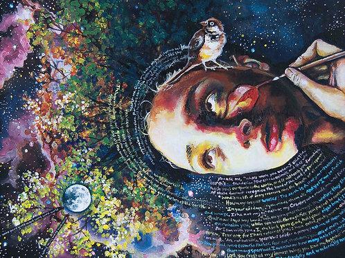"Self Image. Wondering, ""am I beautiful?"" Creator said, ""look up. I make beautiful things."" Art by Danica Thurber"