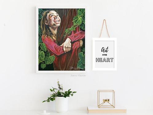 Gardener gift, Christian art for wall, vine and branches, inspirational gifts for women, John 15, treehugger