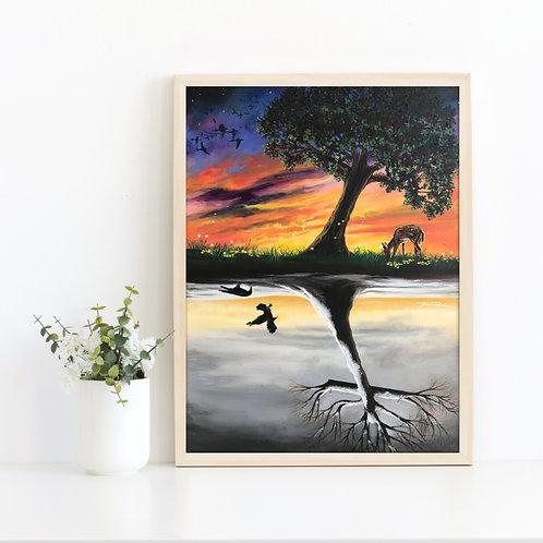 Tree of life, cross art, tree print, tree art, Christian art, Easter art religious, Jesus art