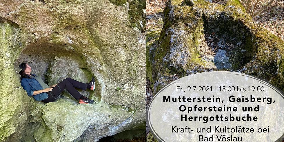 Kraft- und Kultplätze: Mutterstein, Gaisberg, Opfersteine, Herrgottsbuche