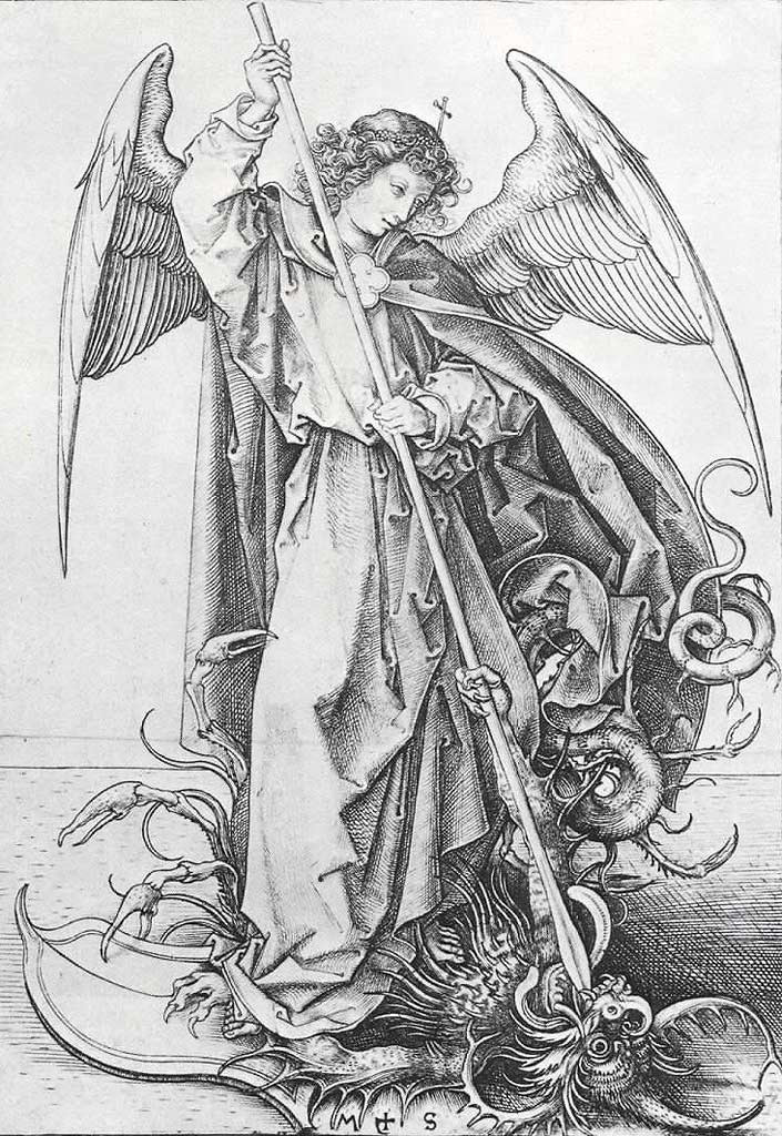 Heiliger Michael als Drachenbändiger