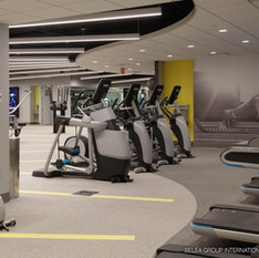 Fitness Center Work Out Area