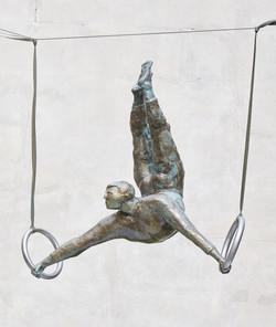 Gymnast on still rings