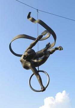 Gymnast with a ribbon