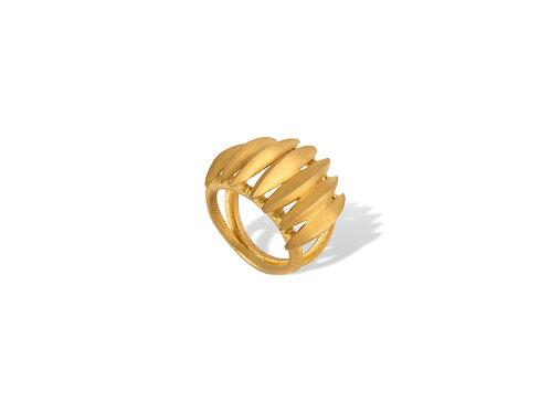 Anel de Prata Dourada