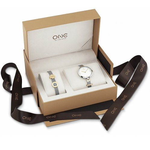 One Energy Plus Box Set Relógio Pulseira Set Mulher OL8330WA91L