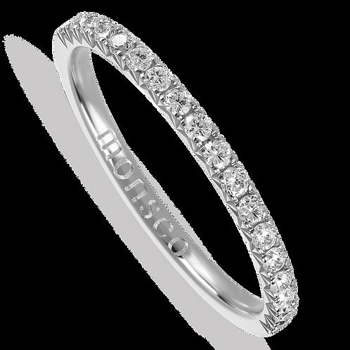 Anel Ouro Branco com Diamantes