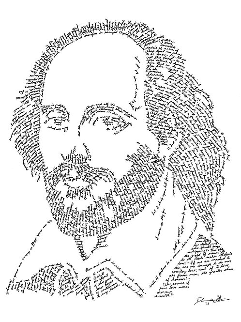 William Shakespeare, In Their Own Words Prints