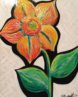 Textured Bloom - Sold