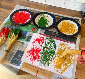 spaghetti painting video