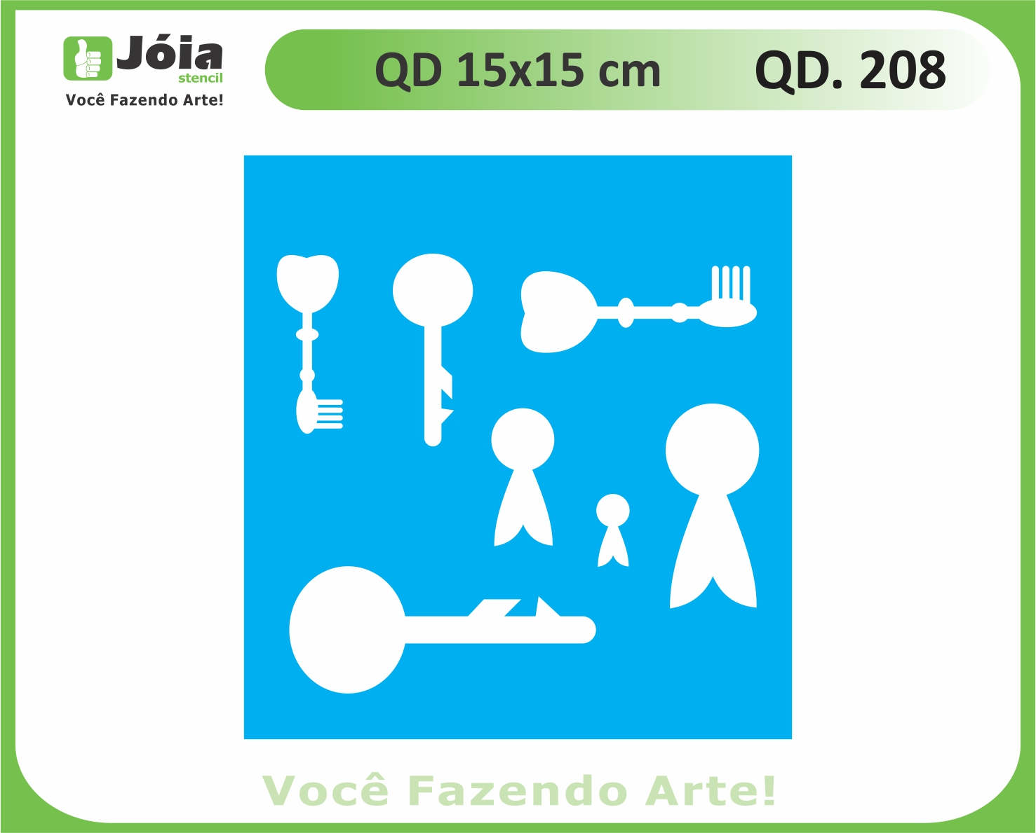 stencil QD 208