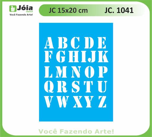 stencil JC 1041