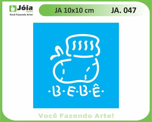 stencil JA 047
