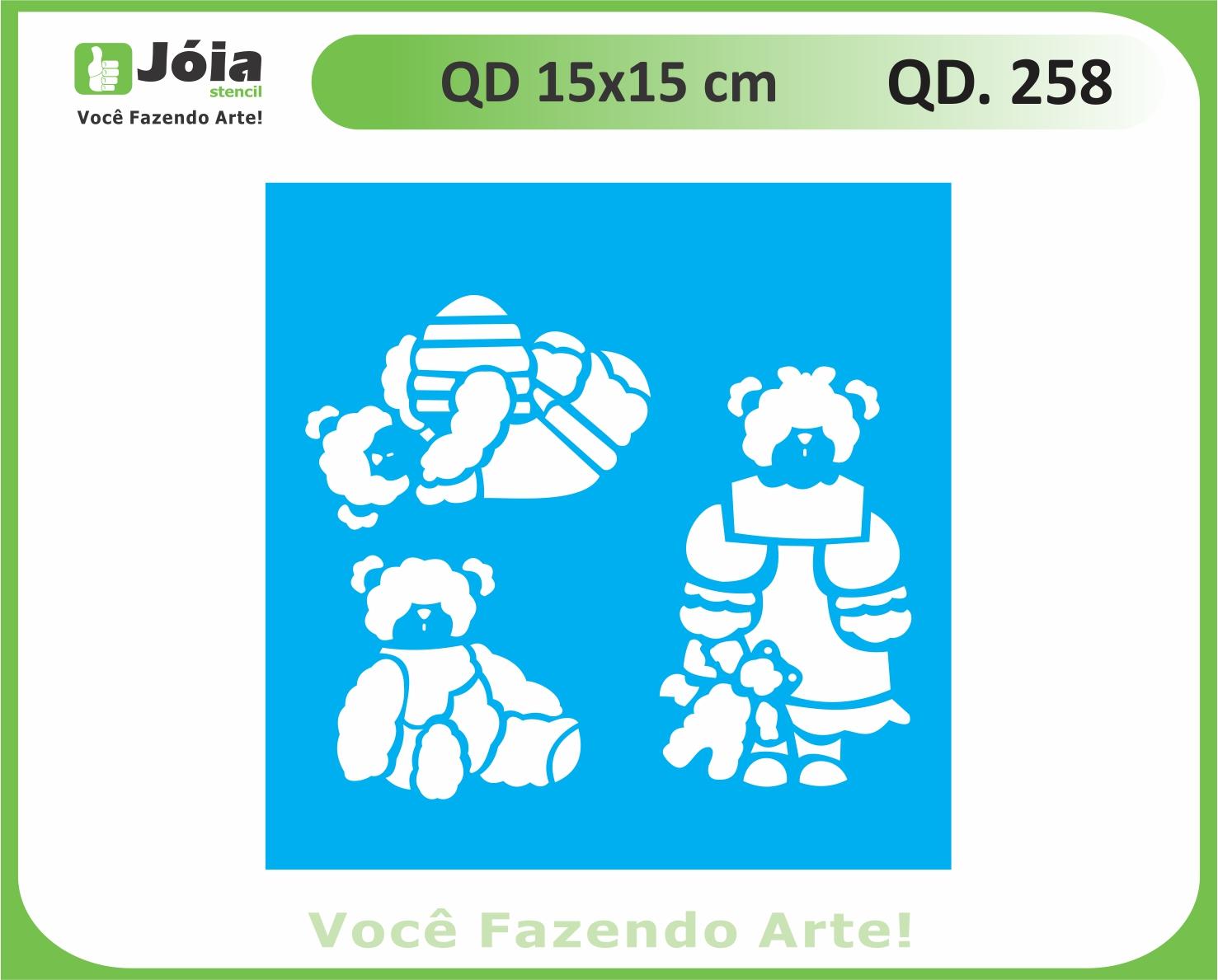 stencil QD 258