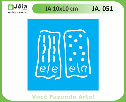 stencil JA 051