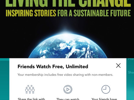 """Free access to the documentary """"Living the change"""""""